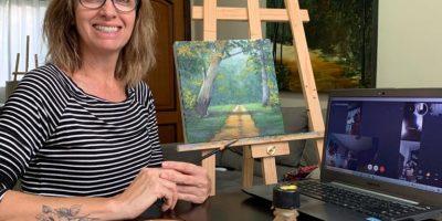 Aula online de pintura